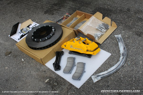What The K Sport 8 Pot 330mm BBK Kit Includes